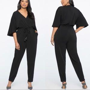 Eloquii Kimono Sleeve Black Jumpsuit - NWT